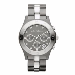 Marc Jacobs Blade Women's Grey Black Ion Watch